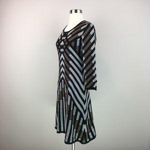 Nine West Dresses - Nine West Chevron Sweater Dress Size XS